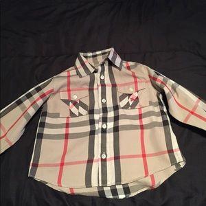 Boys size 4 Burberry Shirt